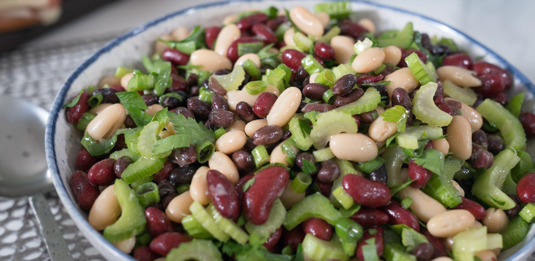 3 Bean Salad With Lemon Vinaigrette Recipe In 2020 3 Bean Salad Bean Salad Food Network Recipes