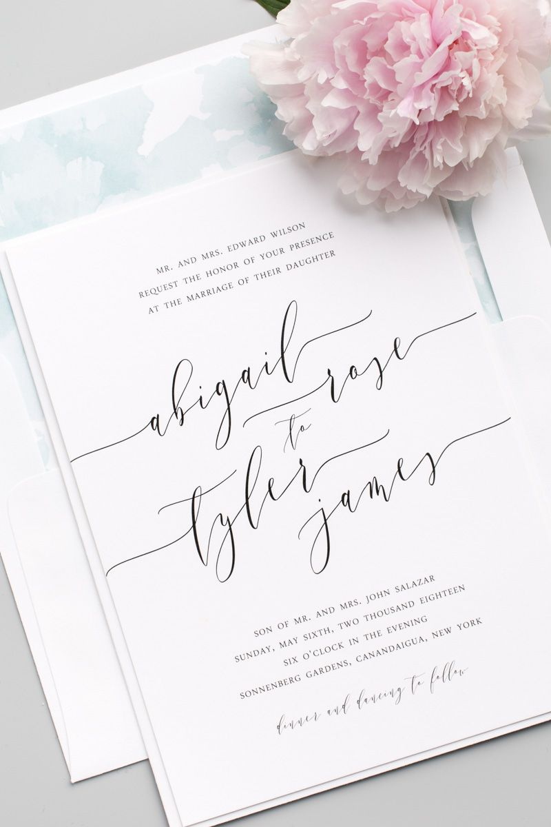 Romantic calligraphy wedding invitations pinterest belly bands looking for the perfect wedding invitation click to personalize this gorgeous design with your choice of colors envelope liners belly bands stopboris Gallery