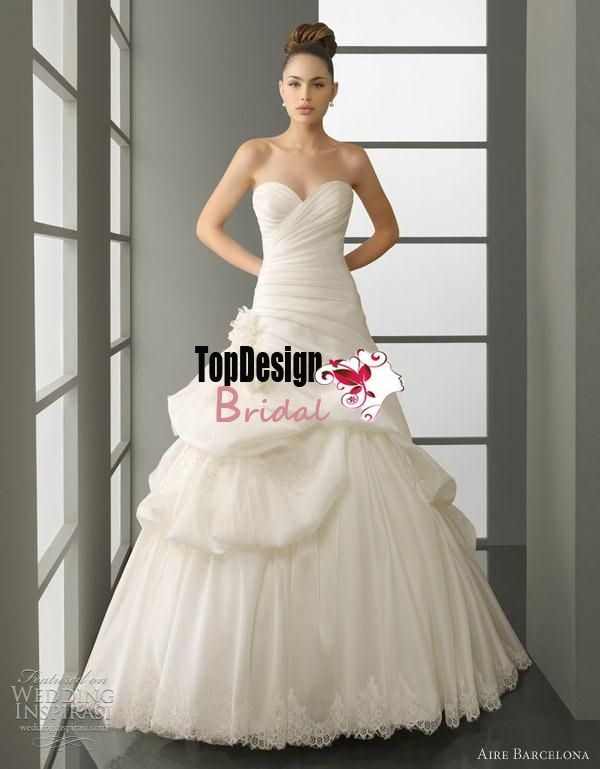 Wholesale free shipping bridal gown elegant sweetheart floor-length ...