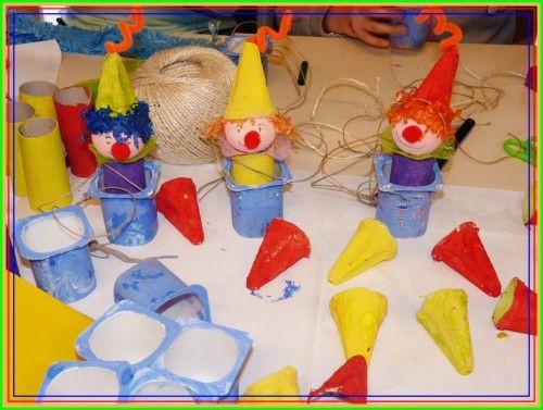 Petits clowns cirque pinterest bricolage carnaval - Petit bricolage deco ...