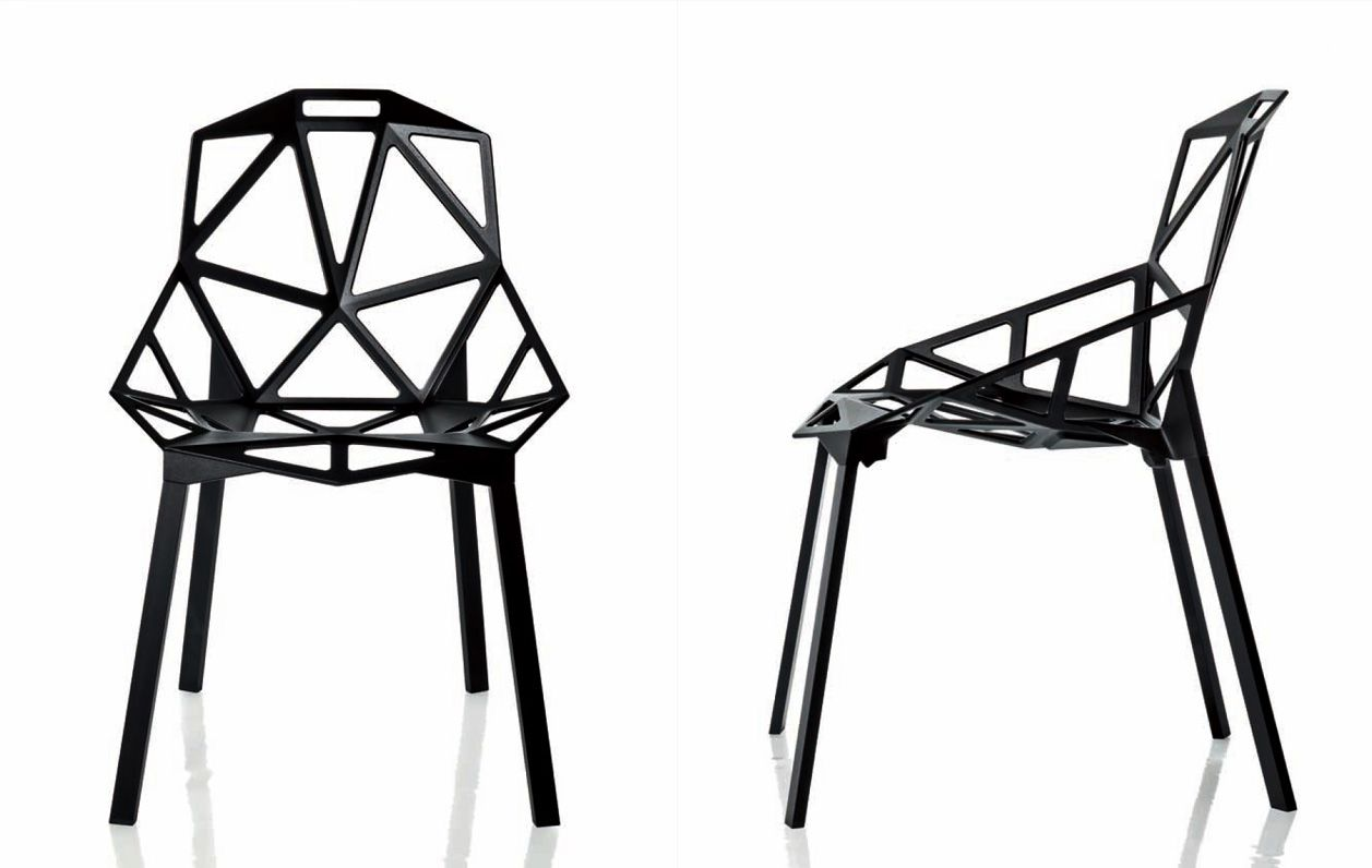 tecnologia del design chair one di konstantin grcic geometric furniture. Black Bedroom Furniture Sets. Home Design Ideas