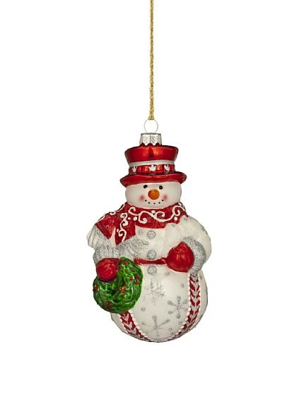 Marquis by Waterford Traditional Snowman Ornament at ...