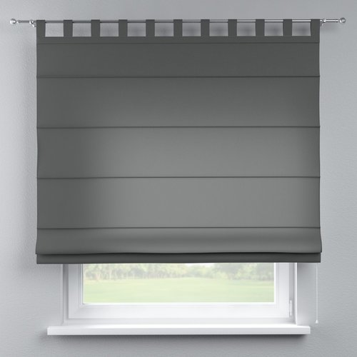 Quadro Blackout Roman Blind Dekoria Size 130cm W X 170cm L Colour Grey Blackout Roman Blinds Roman Blinds Dekoria