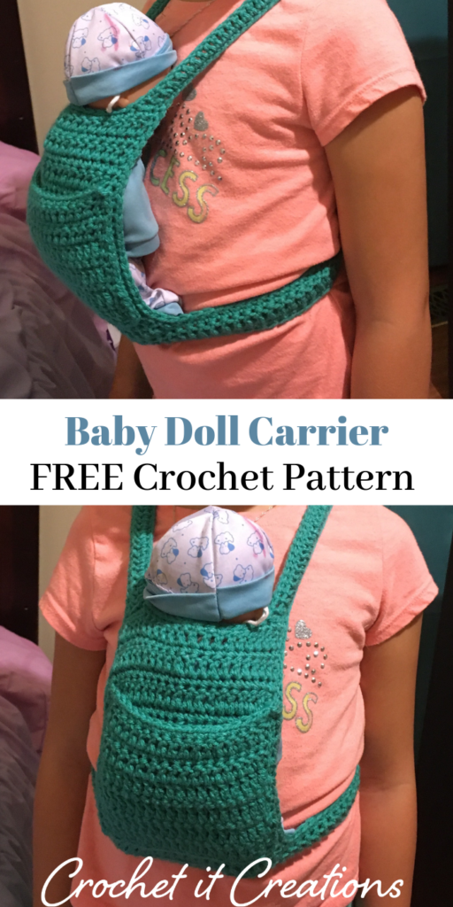 Baby Doll Carrier Crochet Pattern #babydoll
