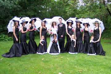 black and white wedding party Unique Black Wedding Theme