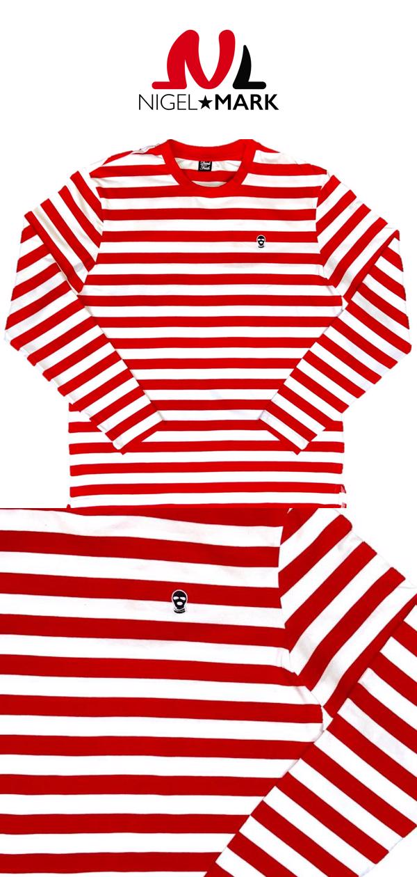 Shop Out Logo Red Stripe Long Sleeve Shirt Available Now At Nigelmark Com Striped Long Sleeve Shirt Striped Long Sleeve Long Sleeve Shirts