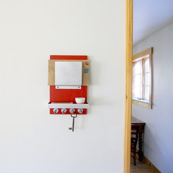MAIL ORGANIZER with Shelf and Key Hooks for Entry, Home