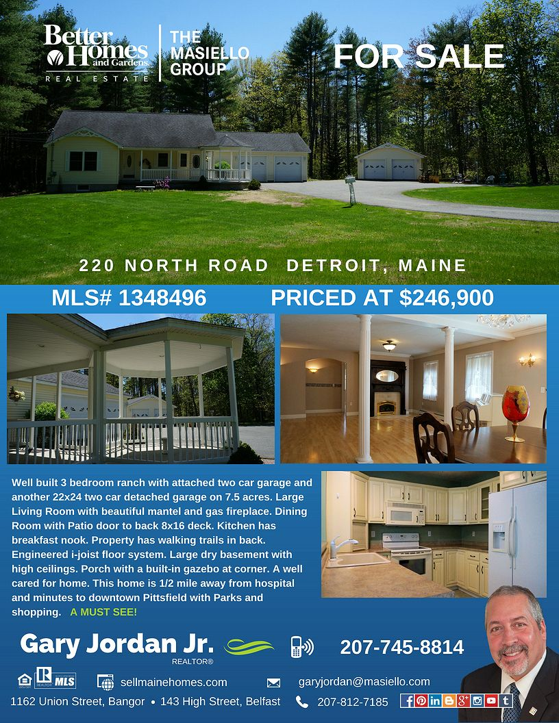 Sold Well Built 3 Bedroom Ranch With Attached Two Car Garage And