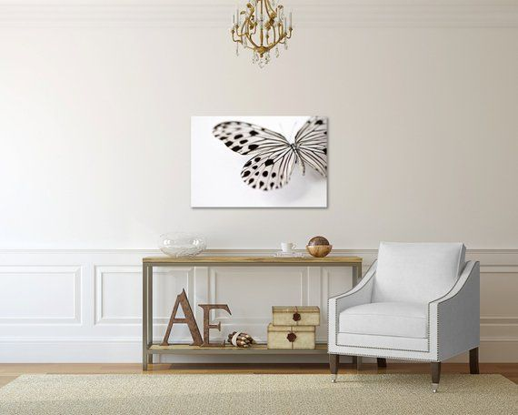 Butterfly Photography Canvas Print Butterfly Wings Gallery Wrap Black And White Butterfly Wall Decor Butterfly Canvas Art Bathroom Decor Butterfly Wall Decor Butterfly Canvas Canvas Prints