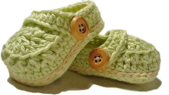 Crochet baby booties, crochet Mock crocs  $20.00