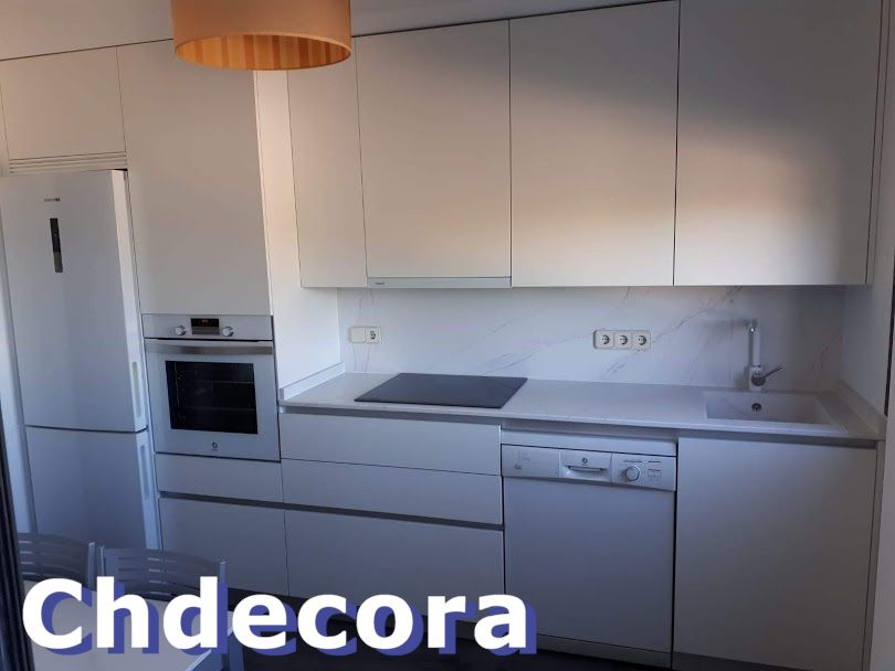 Muebles De Cocina Blanco Senso En Gola Con Encimera Silestone