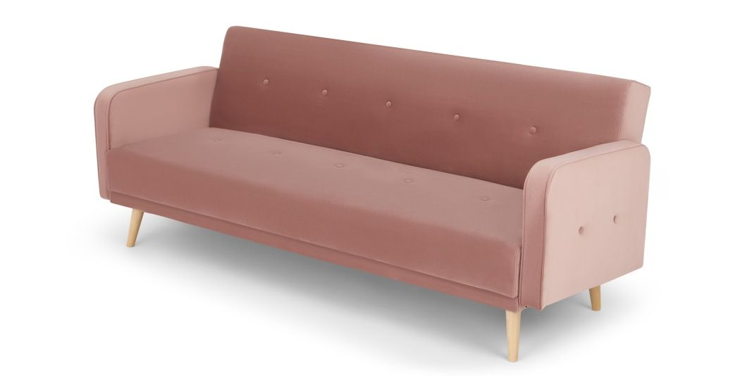 Made Vintage Pink Velvet Sofa Bed Sofa Bed With Storage Sofa Bed Sofa