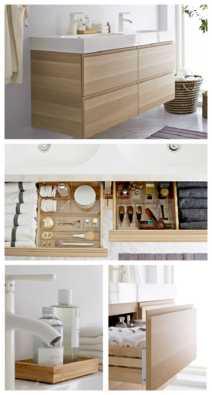 A smart bathroom retreat makes it me time any time! Organization is easy with GODMORGON sink