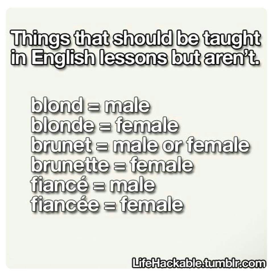 it's because they're french words, and adding e or