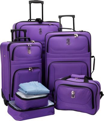Bill Blass Luggage 7 Piece Value Set Purple