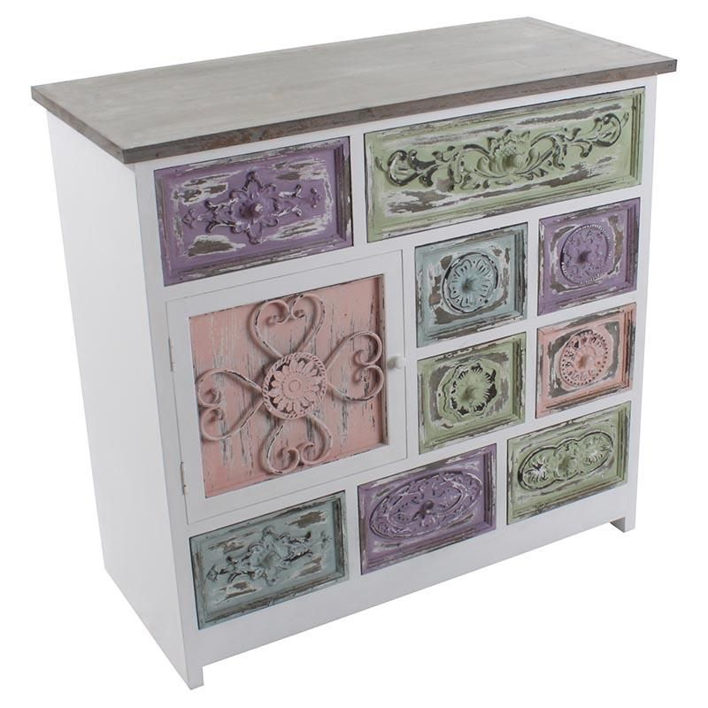 beautiful wooden #drawer in pastel colors www.inart.com