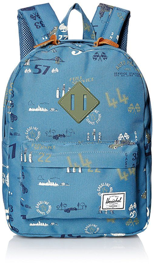 AmazonSmile | Herschel Supply Co. Heritage Kids Backpack. Road Trip/Deep Lichen Green Rubber | Kids' Backpacks | Heritage backpack. Herschel ...