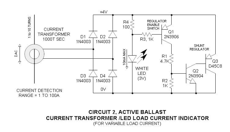 current transformer ac load indicator led useful circuitry