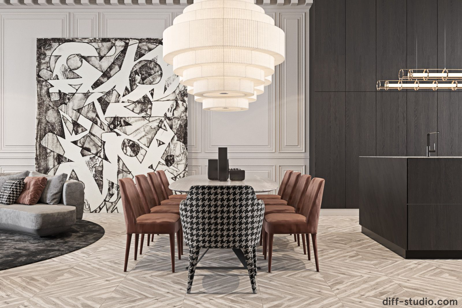 Diff.Studio › Palace in France with bold accents Дизайн