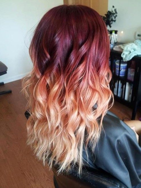 Red To Blonde Ombre Hair Style I M No Into The Whole Thing Myself But This Is Beautiful