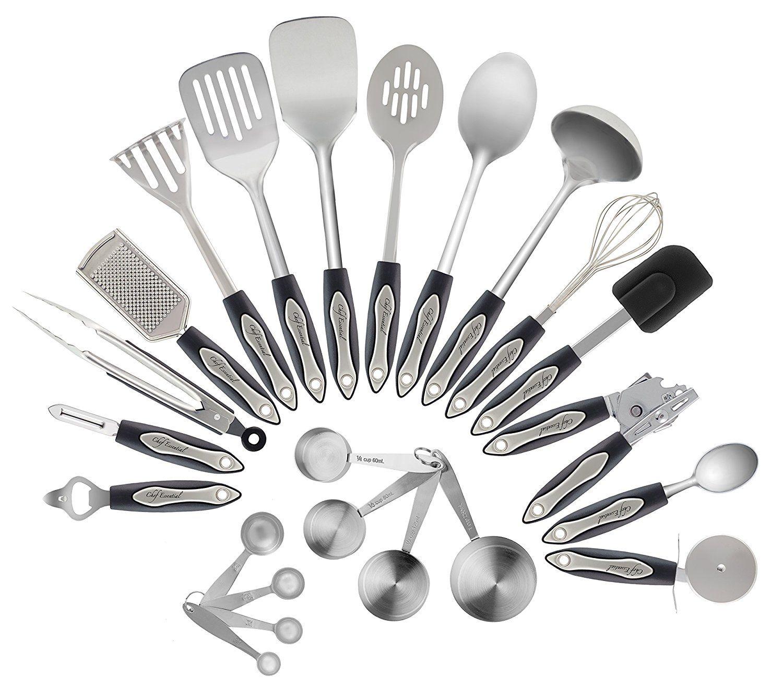Amazon.com   Chef Essential 23-Piece Stainless Steel Kitchen Utensil ...