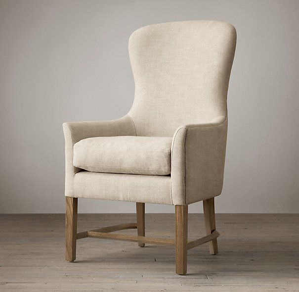 Sloan upholstered armchair 599 20 friends sale 24 w x for Wingback dining room chairs for sale