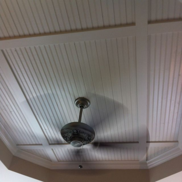 Bead Board Inside Your Tray Ceiling.