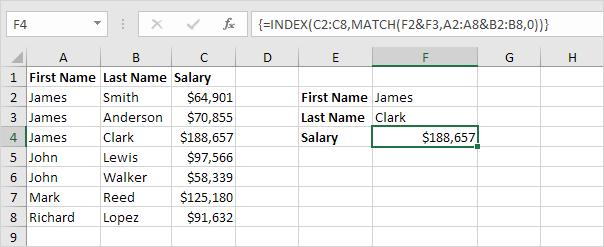 Two Column Lookup In Excel Column Teaching Excel
