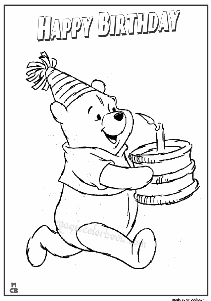 Pin by Magic Color Book on Birthday Coloring pages ...