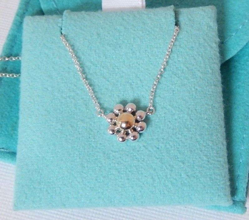 6b7467f56 Paloma Picasso Silver Gold Jolie Flower Daisy Necklace Beautiful! #TiffanyCo  #Pendant