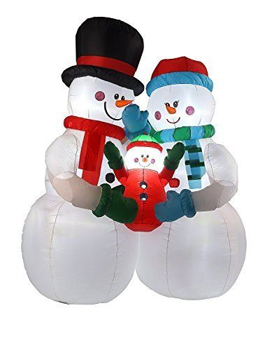 8FT Inflatable Snowman Family Indoor Outdoor Christmas Holiday - inflatable outdoor christmas decorations
