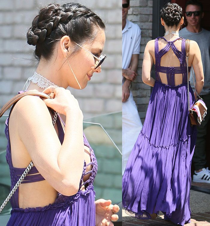 fb4e43a80e6 Olivia Munn leaving Joel Silver s Memorial Day Party in Los Angeles on May  30
