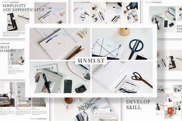 MNMLST  Powerpoint Template MNMLST  Powerpoint Template by deasign on creativemarket