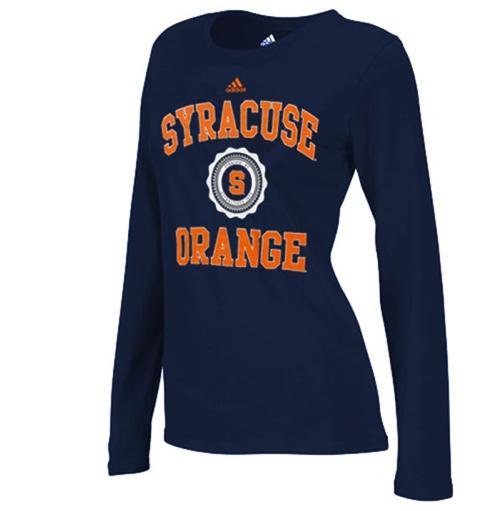 2a6f1762 adidas Syracuse Orange Women's College Seal Long Sleeve T-Shirt ...