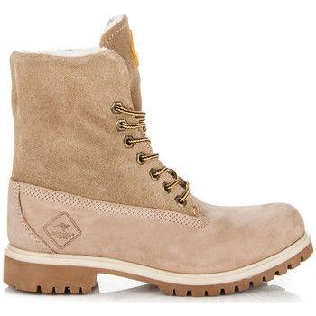 Botki Roadsign Australia Bezowe Skorzane Trpery Damskie Timberland Boots Boots Shoes