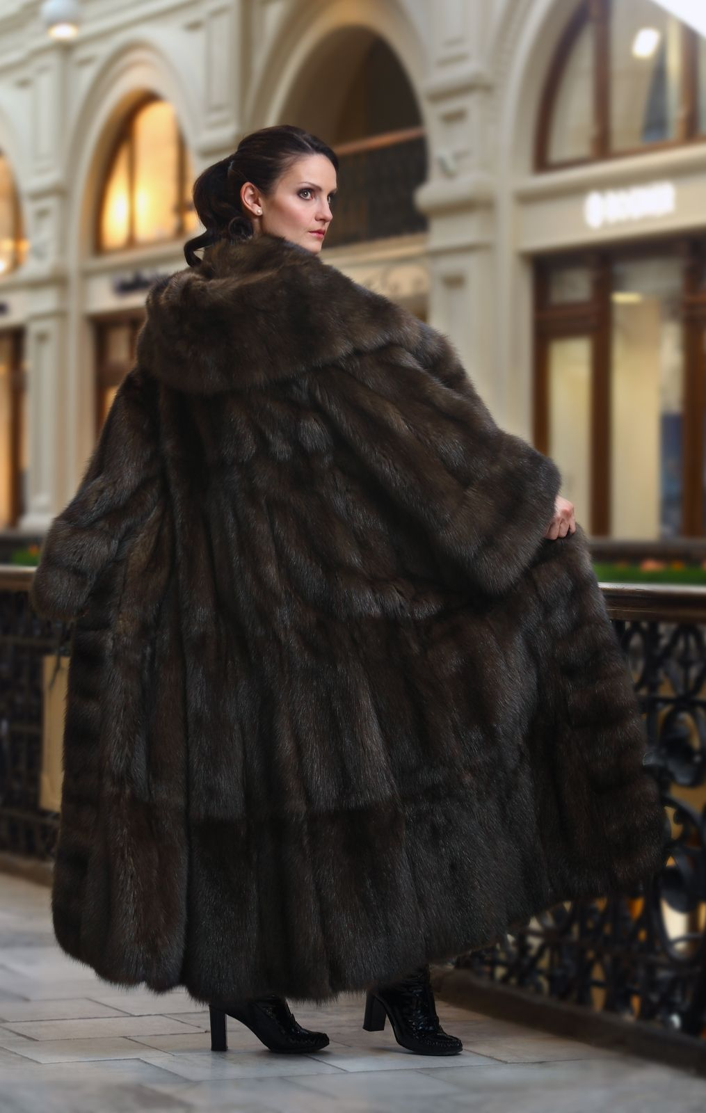 Long, Dark Sable Fur Coat | How I would keep warm | Pinterest ... for Sable Fur Cape  557yll