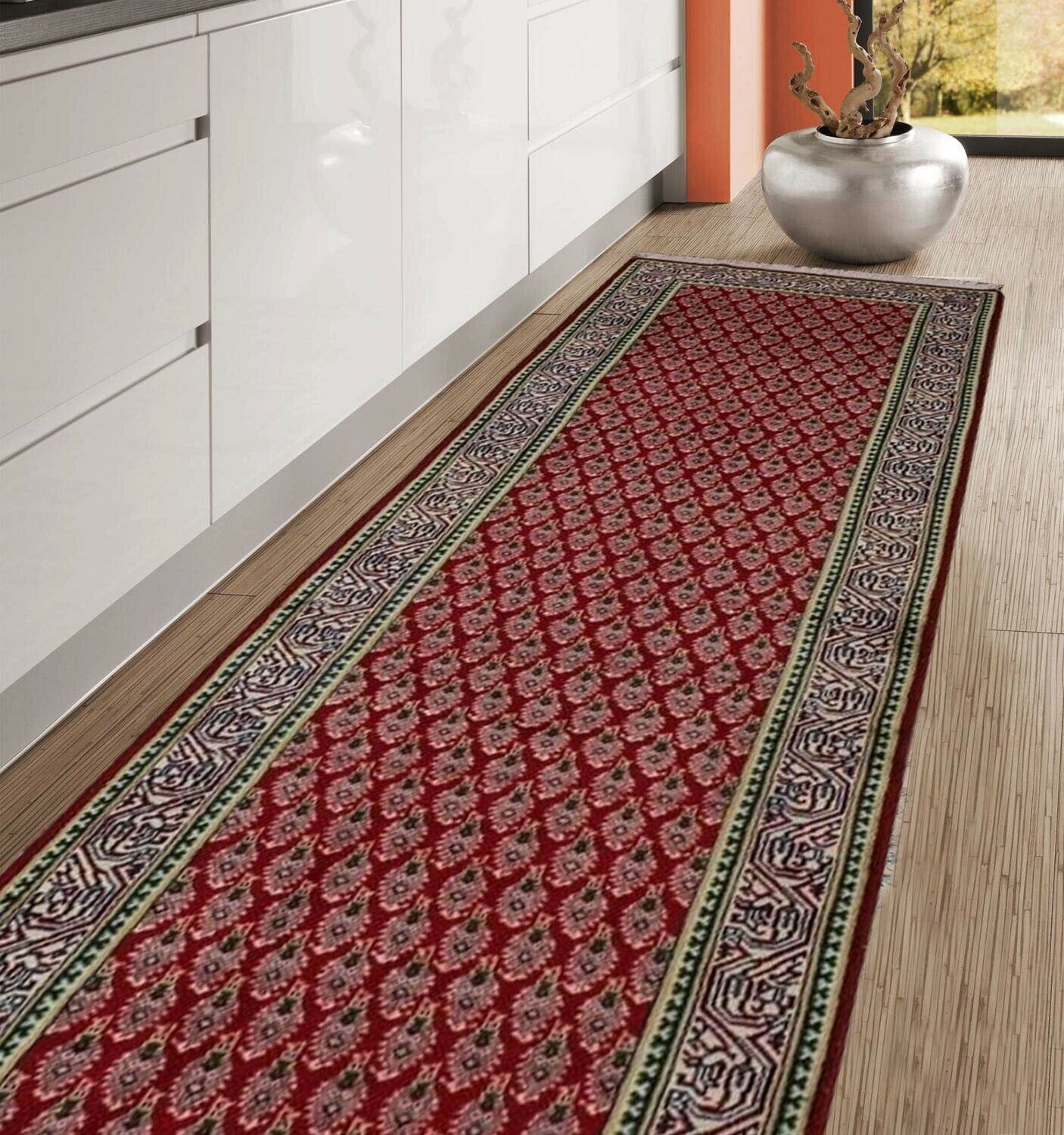 Signed Traditional Botemir 29x10 Oriental Narrow Hallway Runner Rug Wool Carpet Signed Traditional Botemir 2 In 2020 Kitchen Sofa Carpet Pricing Rug Runner Hallway