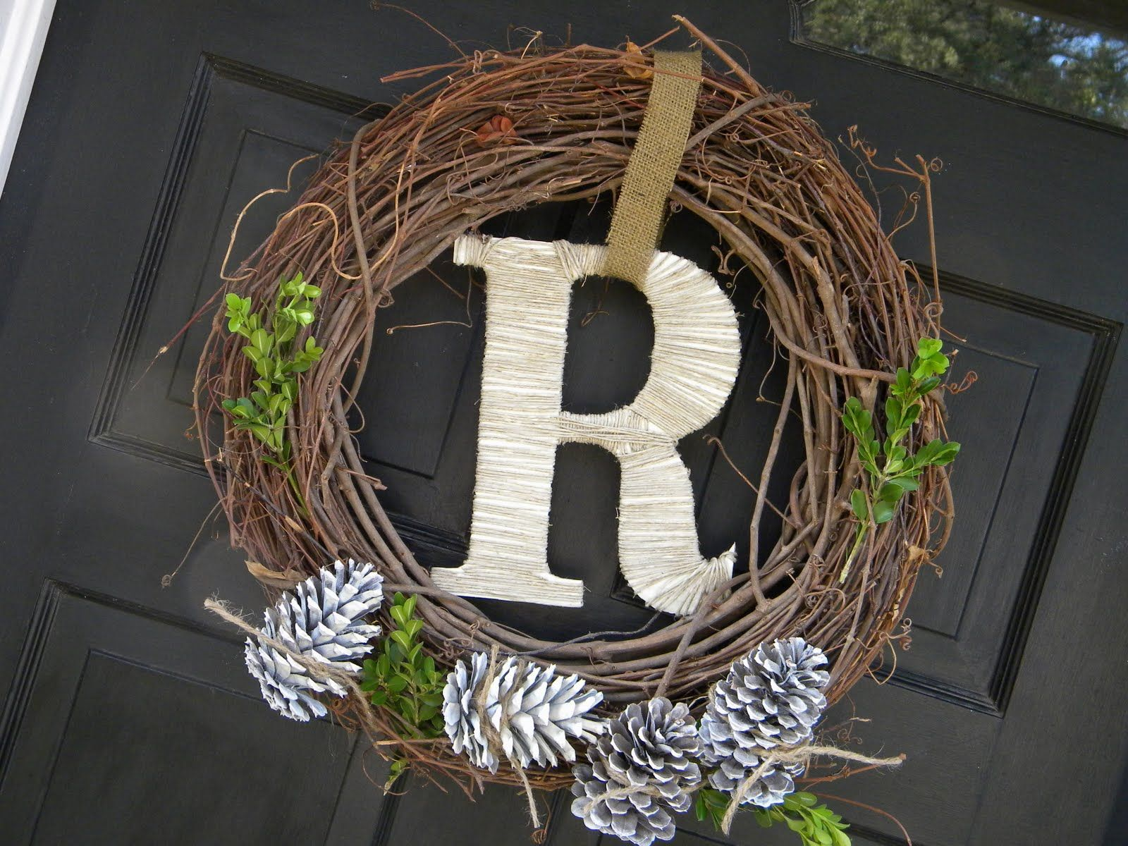 House tour with some morning t rustic wreath grapevine