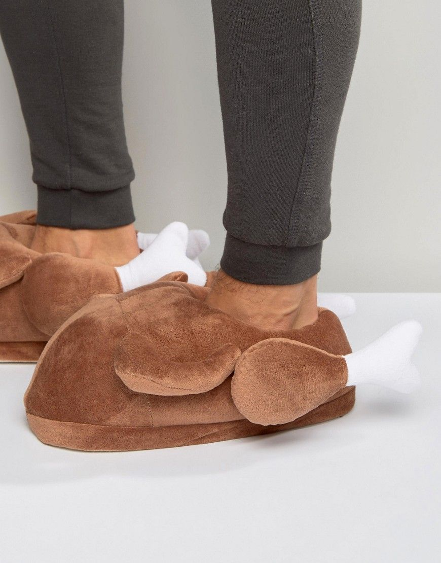 Christmas Turkey Novelty Slippers In