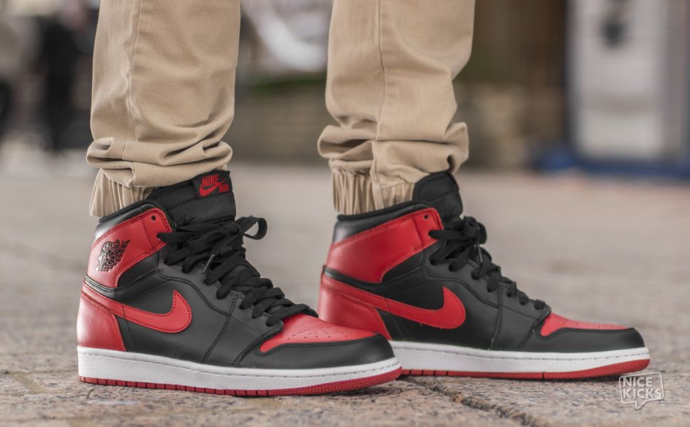 It doesn't get any more iconic than the black and red Air Jordan Michael  Jordan's very first signature shoe in its classic Bulls style code is a  timeless ...