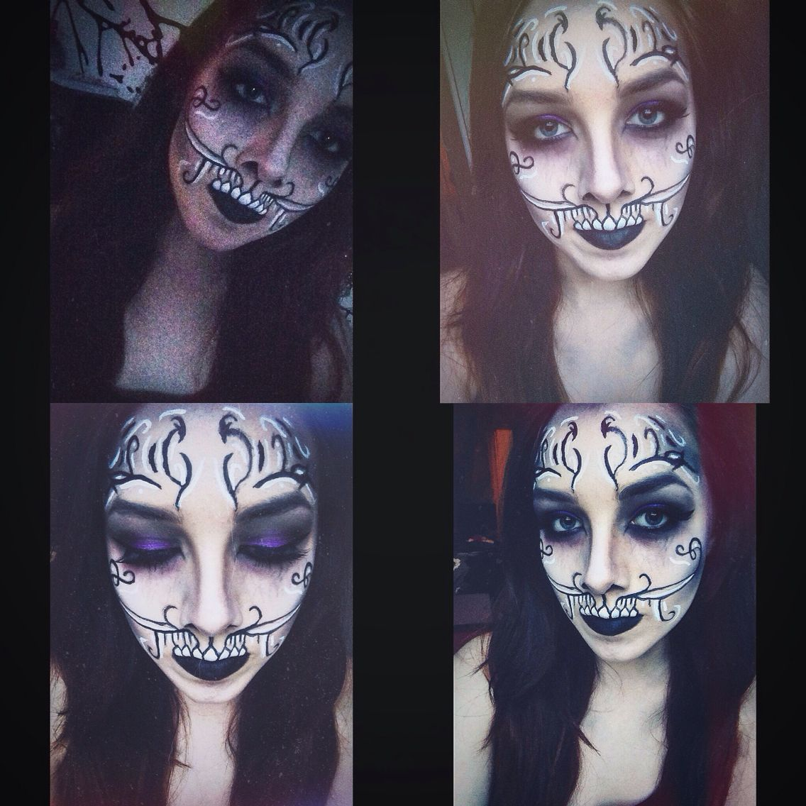 Death makeup inspired by Klairedelys and Kristin and PC Casts House of Night series
