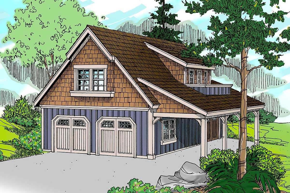 Plan 72816da Craftsman Garage With Living Area And Shop Carriage House Plans Craftsman House Plans Craftsman Style House Plans