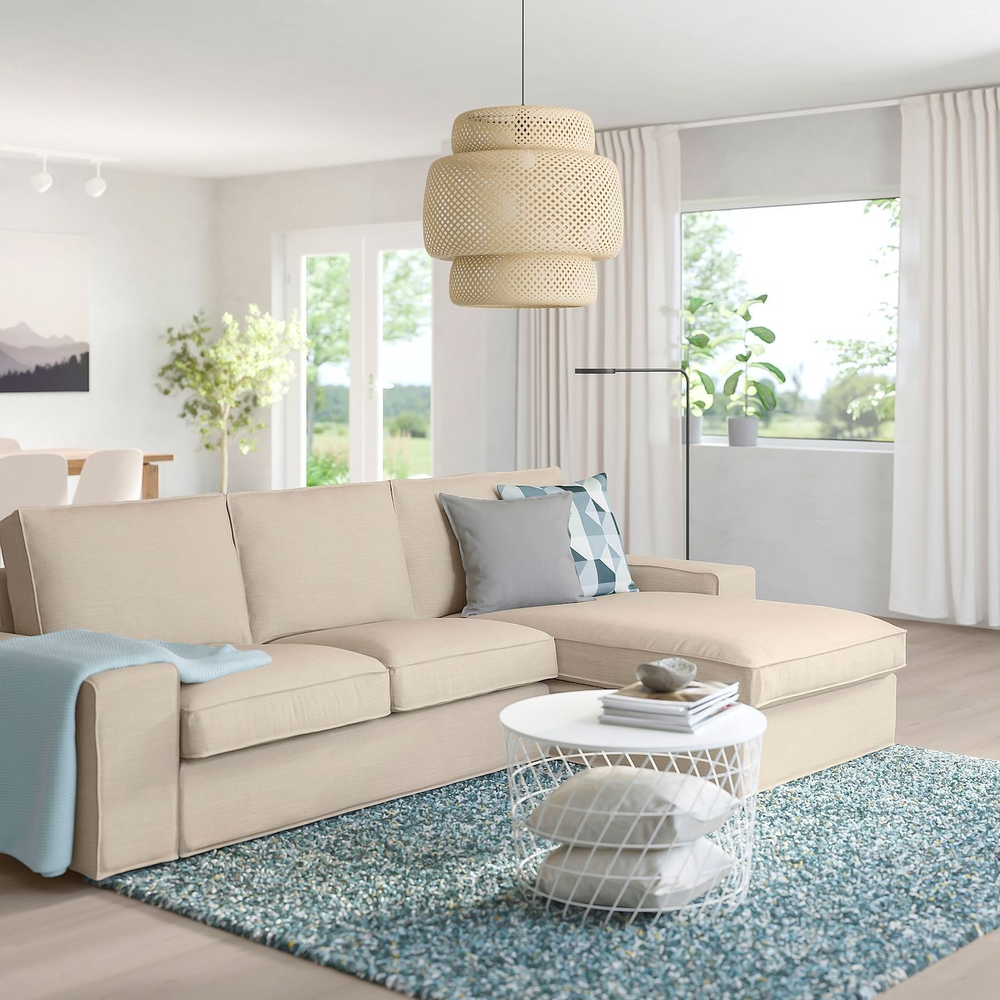 KIVIK Sofa Hillared with chaise, Hillared beige in 2020