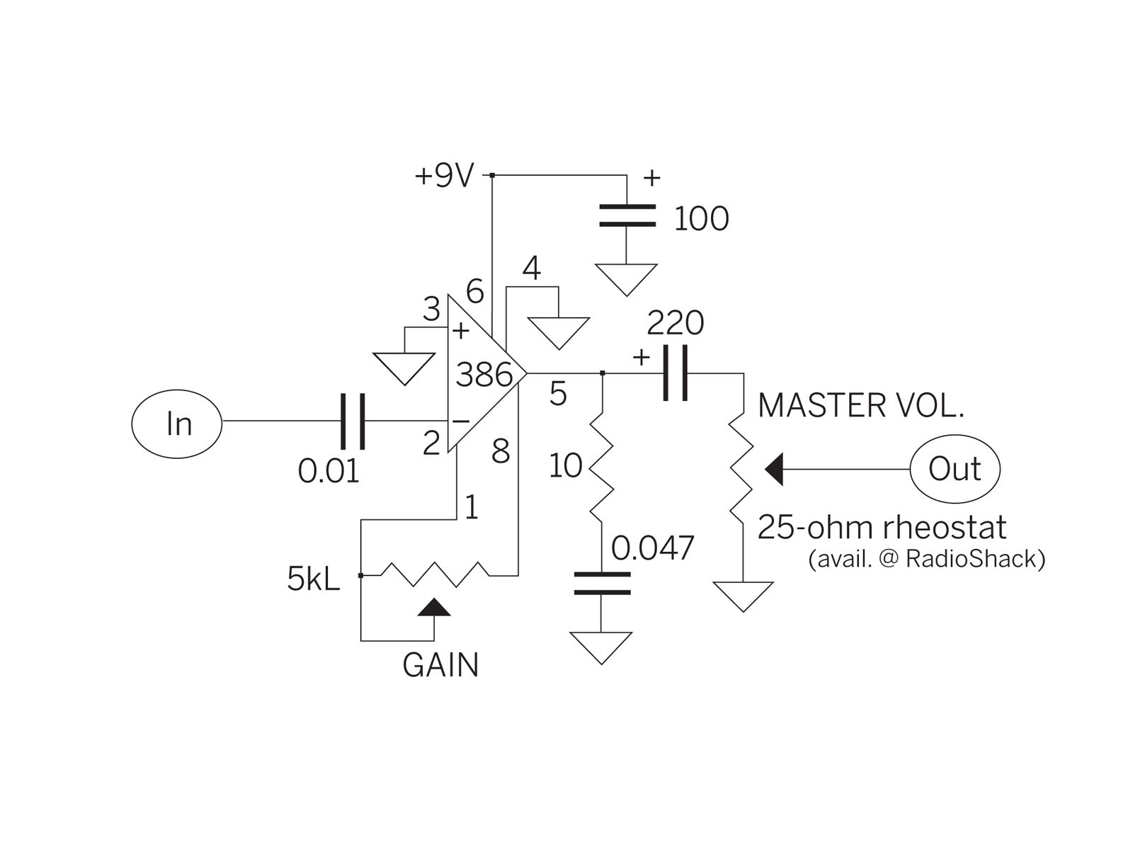 The $5 Cracker Box Amp Crackers And Electronic Schematics Cigar Box Amp Kit House Amplifier Wiring Diagram 5 Channel Amplifier Wiring Diagram At IT-Energia.com