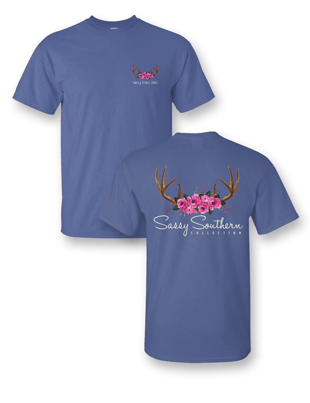 Antlers Roses Comfort Colors Tee Shirts Comfort Colors Tee