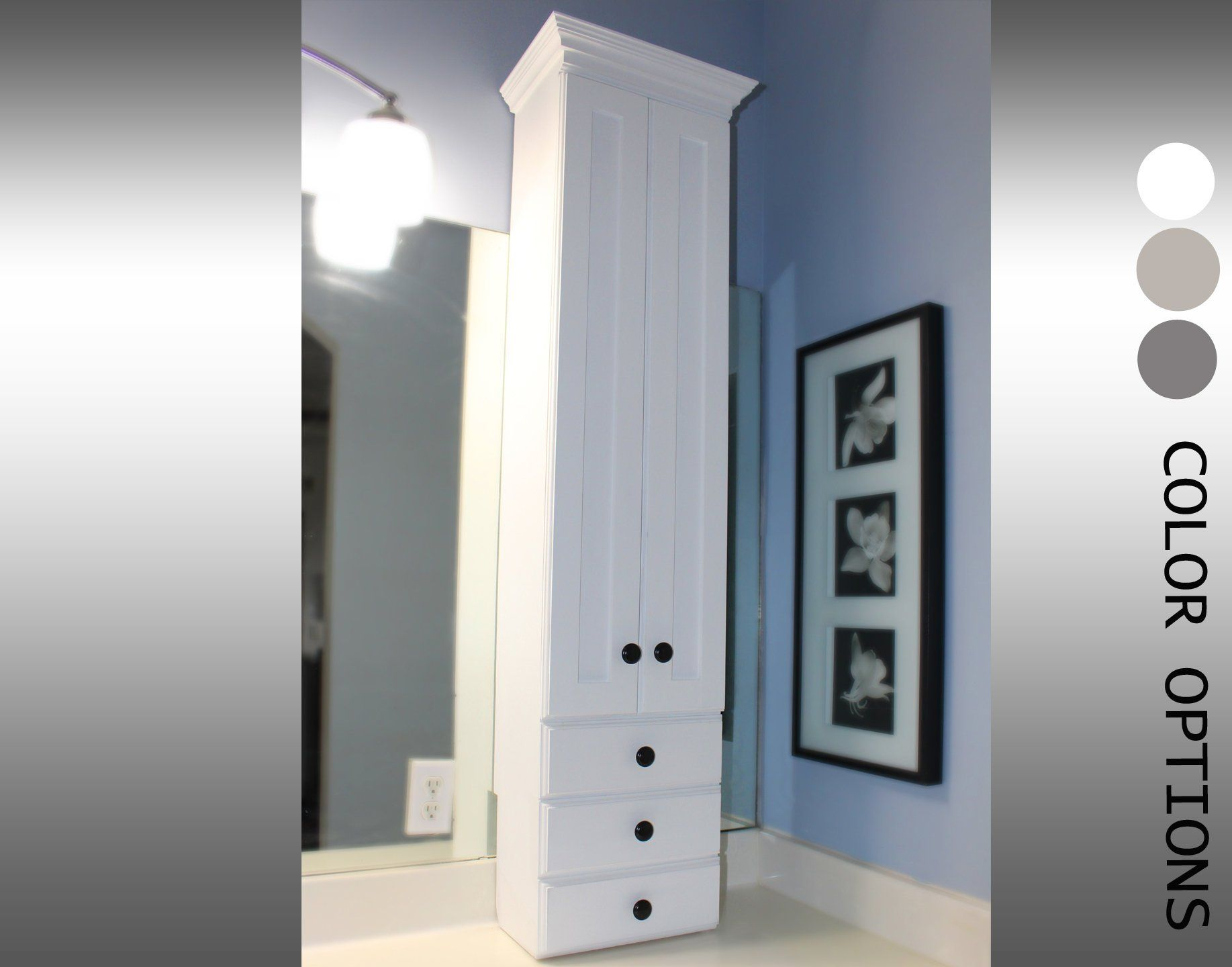 Bathroom Tower, Vanity Tower, Vanity Cabinet, Bathroom Cabinet, Bathroom Vanity
