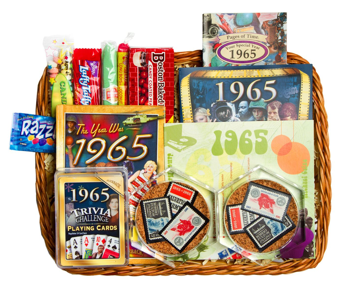 60th Anniversary Or Birthday Gift Basket For 1955