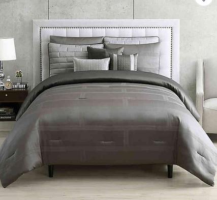 Hotel Tristian Jacquard 9 Piece Comforter Set Bed Bath Beyond Comforter Sets Bed Comforters
