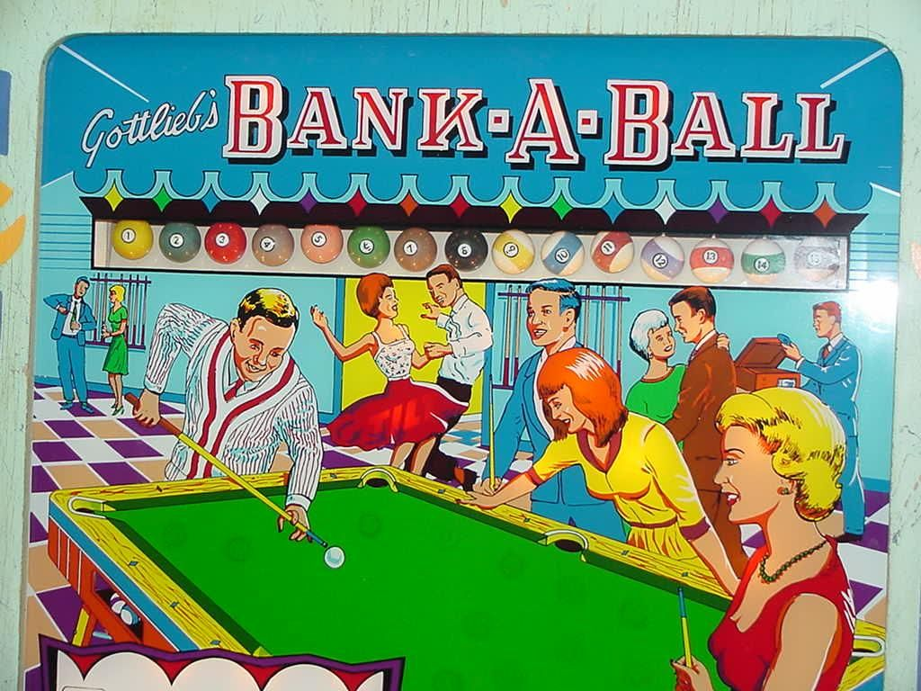 1965 Gottlieb Bank A Ball Pinball Pinball Pinball Art Pinball Wizard