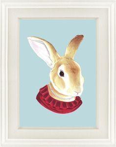 Rabbit print for kiddie room.